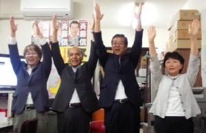 6選を果たした斉藤信さん