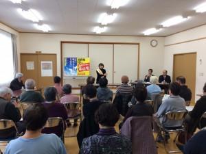盛岡市の加賀野公民館で訴える吉田恭子さん