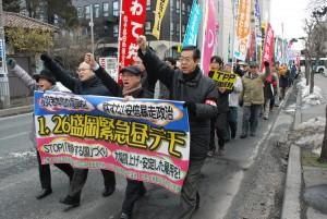 15年国会開会で昼デモ