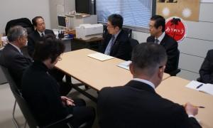 戸羽陸前高田市長と懇談