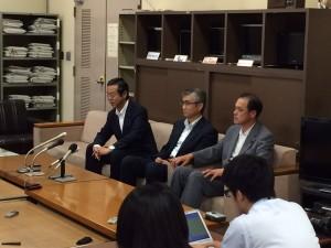 3知事選についての記者会見