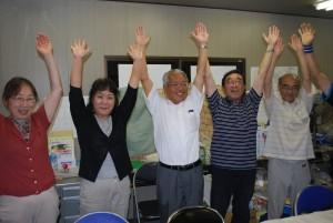 7滝沢・仲田氏当選ばんざい