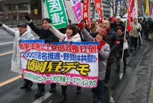 16年2月戦争法昼デモ